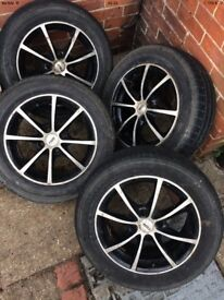 Car wheel and tyres