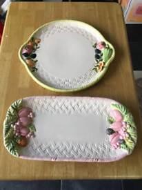 Set of 3 serving plates