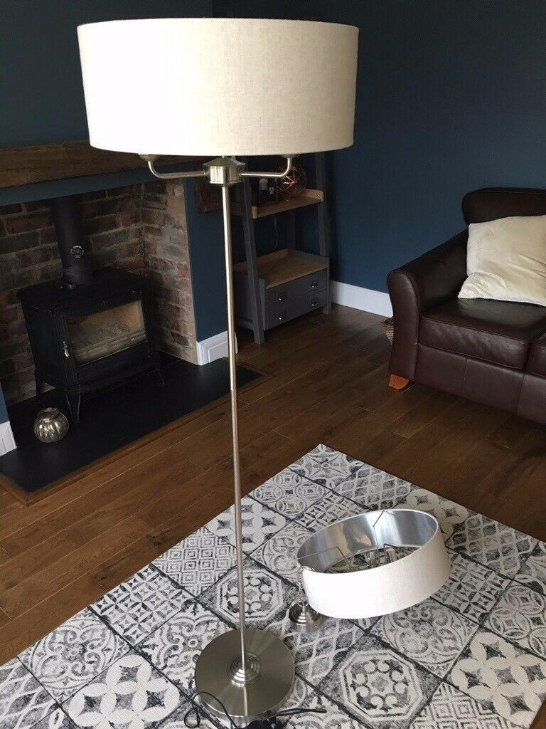 size 40 729ff 77c7b Laura Ashley Sorrento Chrome Chandelier and Floor lamp with Natural Shades  | in South Shields, Tyne and Wear | Gumtree
