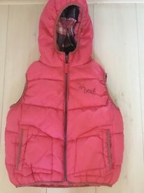 Next girls padded gilet aged 5-6 years