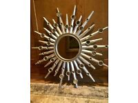 Mirror - silver painted star shape in good condition