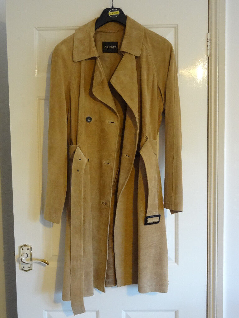 sale retailer faf1d c1fc3 Gil Bret Limited Edition Genuine Suede Leather Coat - size 12, beige,  lined, double breasted | in Canterbury, Kent | Gumtree