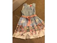 Girls joules summer party dress aged 7 years