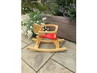 Immaculate wooden rocking horse