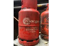 Gas canisters empty