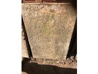 Reclaimed slabs for free uplift