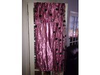 Veil Eyelet Lined Curtains X 2 ( each curtain 2m,30 X 3m ) -