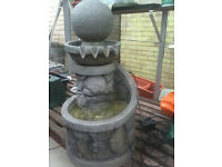 Lovely outdoor water feature with light – excellent condition