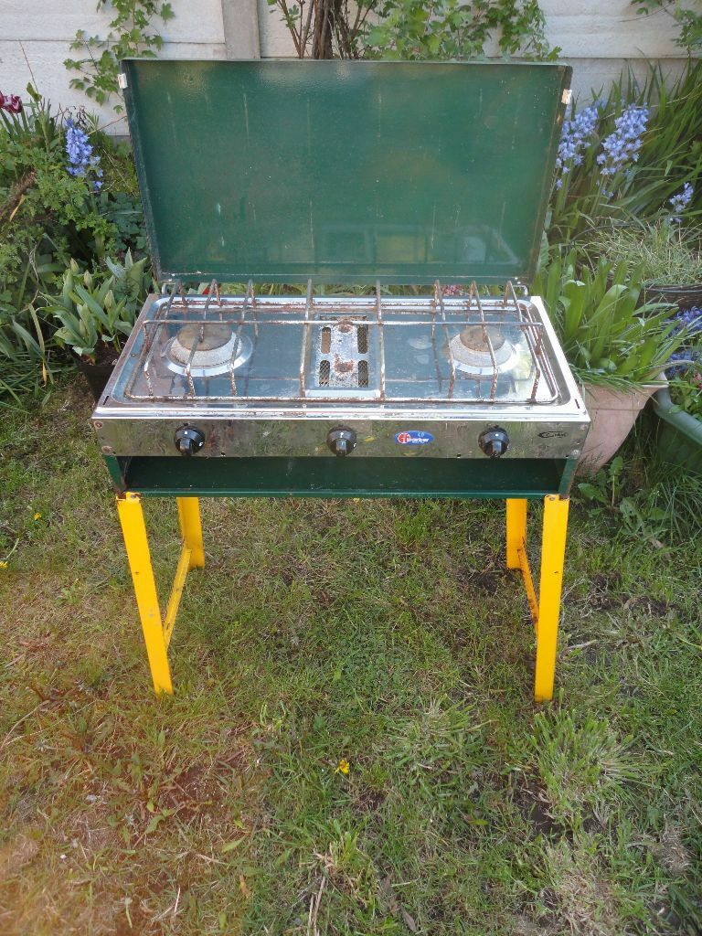 Gelert camping stove double burner and grill with stand  : 86 from www.gumtree.com size 768 x 1024 jpeg 214kB