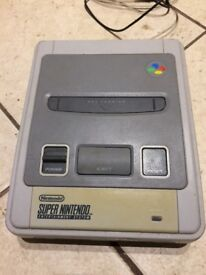 Super Nintendo Consule with Street Fighter 2