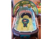 Bright starts light up lullaby lagoon baby rocker