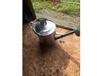 Nice metal watering can.