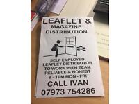 Leaflet distribution job