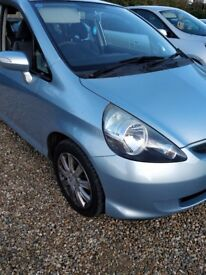 HONDA JAZZ AUTO METALLIC BLUE.64000Miles.one previous owner 54 plate.
