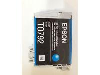 T0792 Epson Genuine / Original Cyan Ink Cartridge