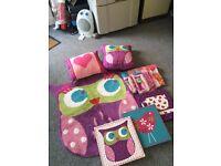 Matching Owl bedroom bundle
