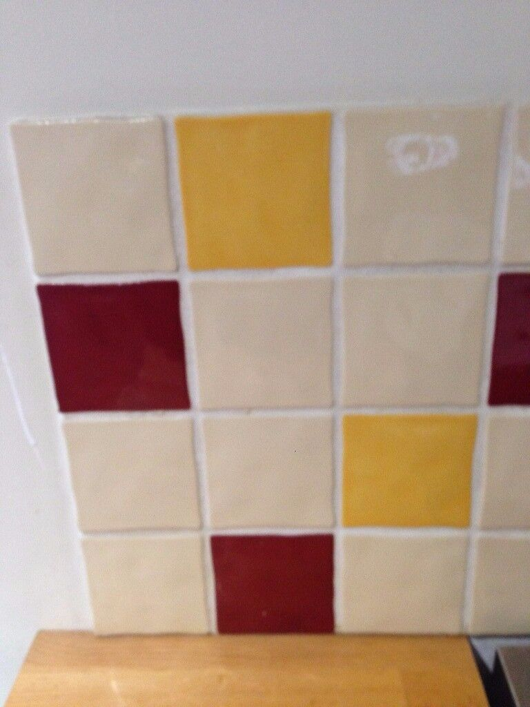 Second Hand Cream Red And Yellow Ceramic Wall Tiles