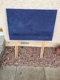 Blue headboard
