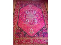 Large pink patterned rug 160 x 235cm