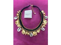 'Ashiana London' Sea Cove Statement Necklace 22ct gold plated