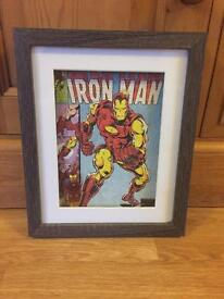 Marvel iron man minifigure framed picture, advengers