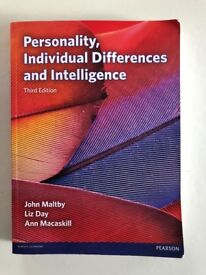 Personality, Individual Differences and Intelligence, Third Ed, by Maltby, Day and Macaskill