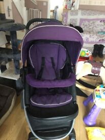 Graco Purple Pushchair.