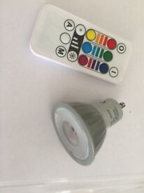 Colour changing bulb with remote control