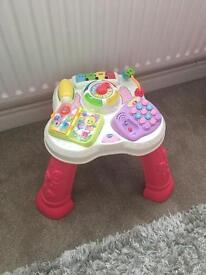 VTech activity station centre. Music & lights! Pink! Perfect as new condition.