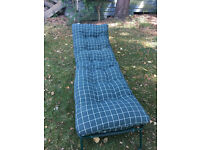 Folding camp bed and mattress, unused, very safe. Excellent condition