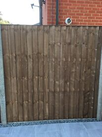 Fence panel close board as new