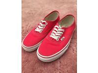 83d34c4b48 Red Vans pumps trainers size 6.5 uk 40 euro