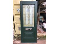 Composite Door Slab dark green external and white internal slab