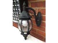 Attractive Large Black Outdoor Wall Lantern Garden Light