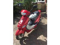 Pulse Scout 50 cc moped scooter - starts but not running (belt drive gone) low miles - 10 months MOT