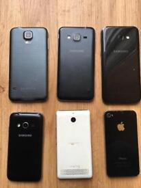Job lot of phones SPARES OR REPAIRS