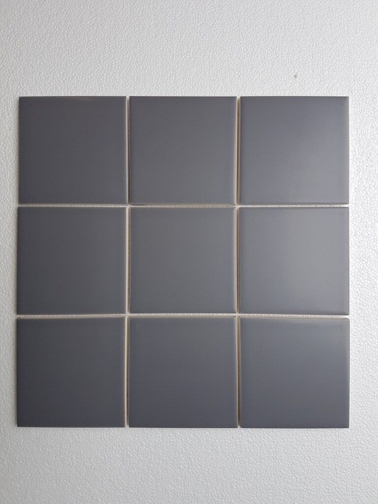 22m2 10x10cm Mid Grey ceramic wall tiles