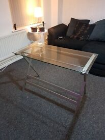 Levi graphite glass office table