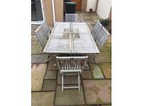 Teak garden dining table