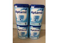 Aptamil Stage 1 four tubs long expiry