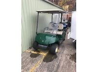 two Golf buggies for sale require batteries .
