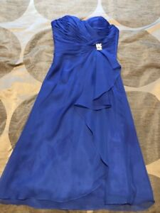 Women's royal blue gown