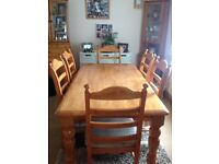 Large 6 seater table and chairs