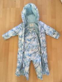 M&S All in one, toddler coat 12-18m