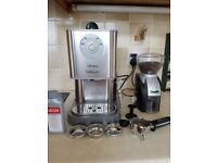 Gaggia Twin Espresso Machine and Coffee Grinder