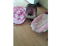 Baby chair, car seat and play mat