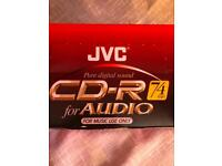 10 discs of JVC CD-R in jewel cases Brand new