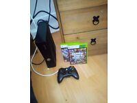Xbox slim 20gb two games