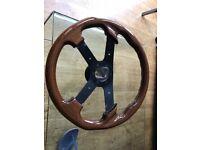 MOMO Jet solid wood steering wheel and boss