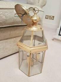 Gold ceiling lantern light